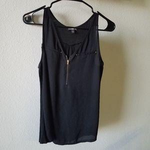 Express black dress up tank top